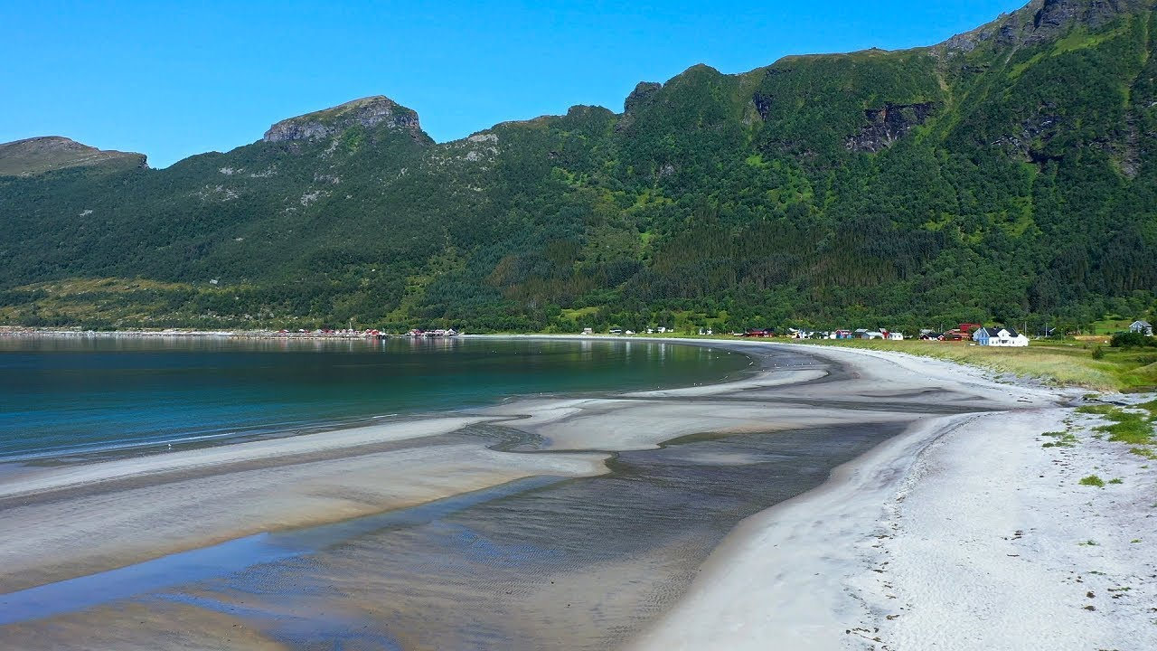 Storvika beach seen from a drone