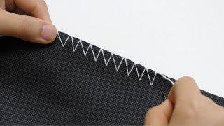 30年老裁缝教我锁边针法,和机器缝的一样精致,一学就会