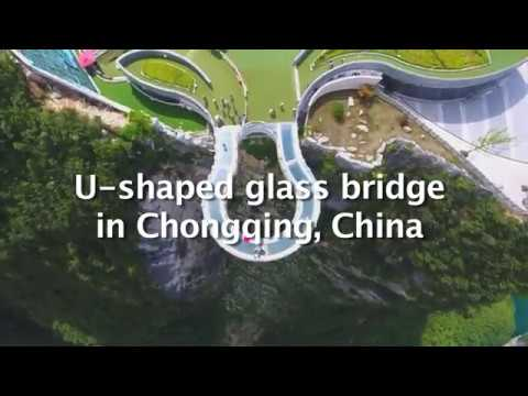 Most watched live moments: Glass-bottomed walkway in Chongqing, China