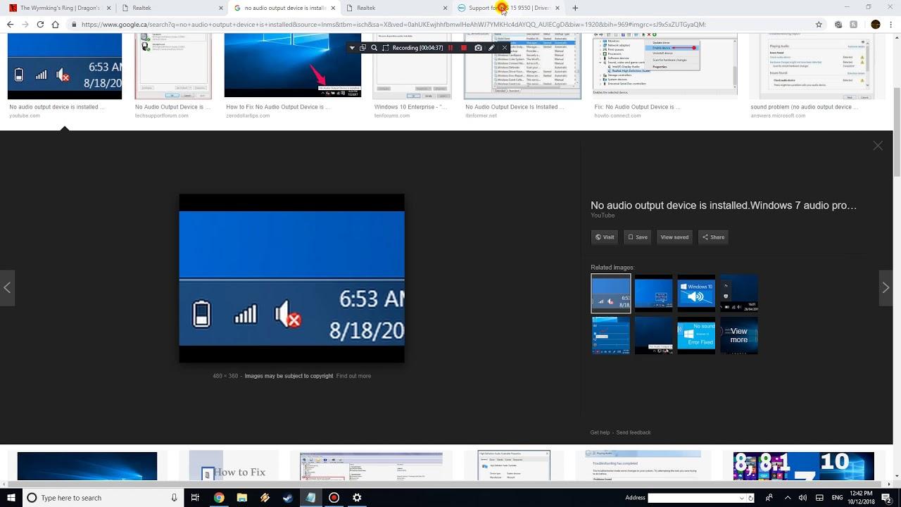 no audio windows 10 youtube