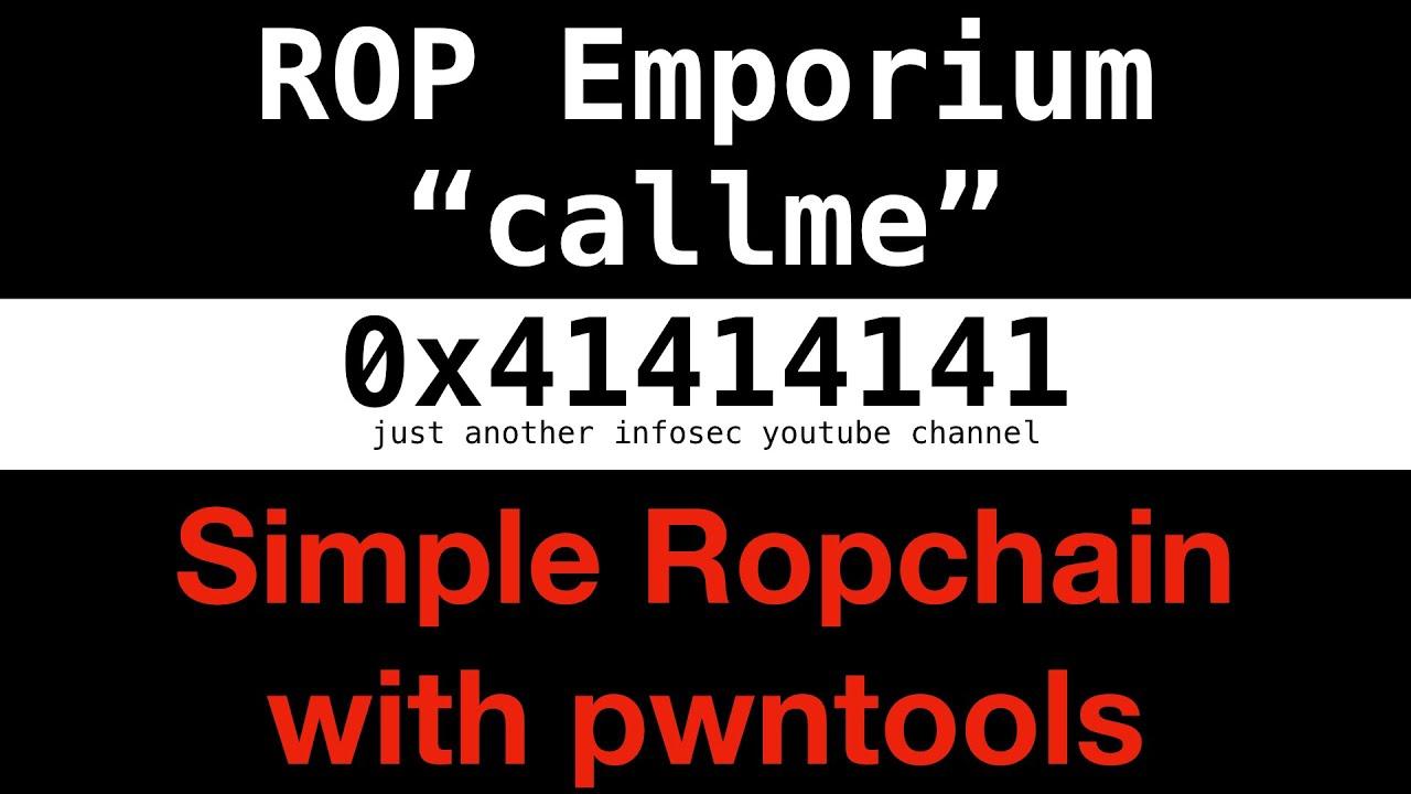 #4 - ROP Emporium 2: callme (simple ropchain using pwntools)