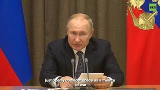 US 'openly considers' space a theatre of war – Putin