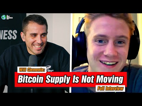 Will Clemente: 85% Of Bitcoin Has Not Moved In 3 Months!