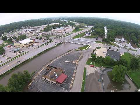 Drone Video West Des Moines Flood 2015