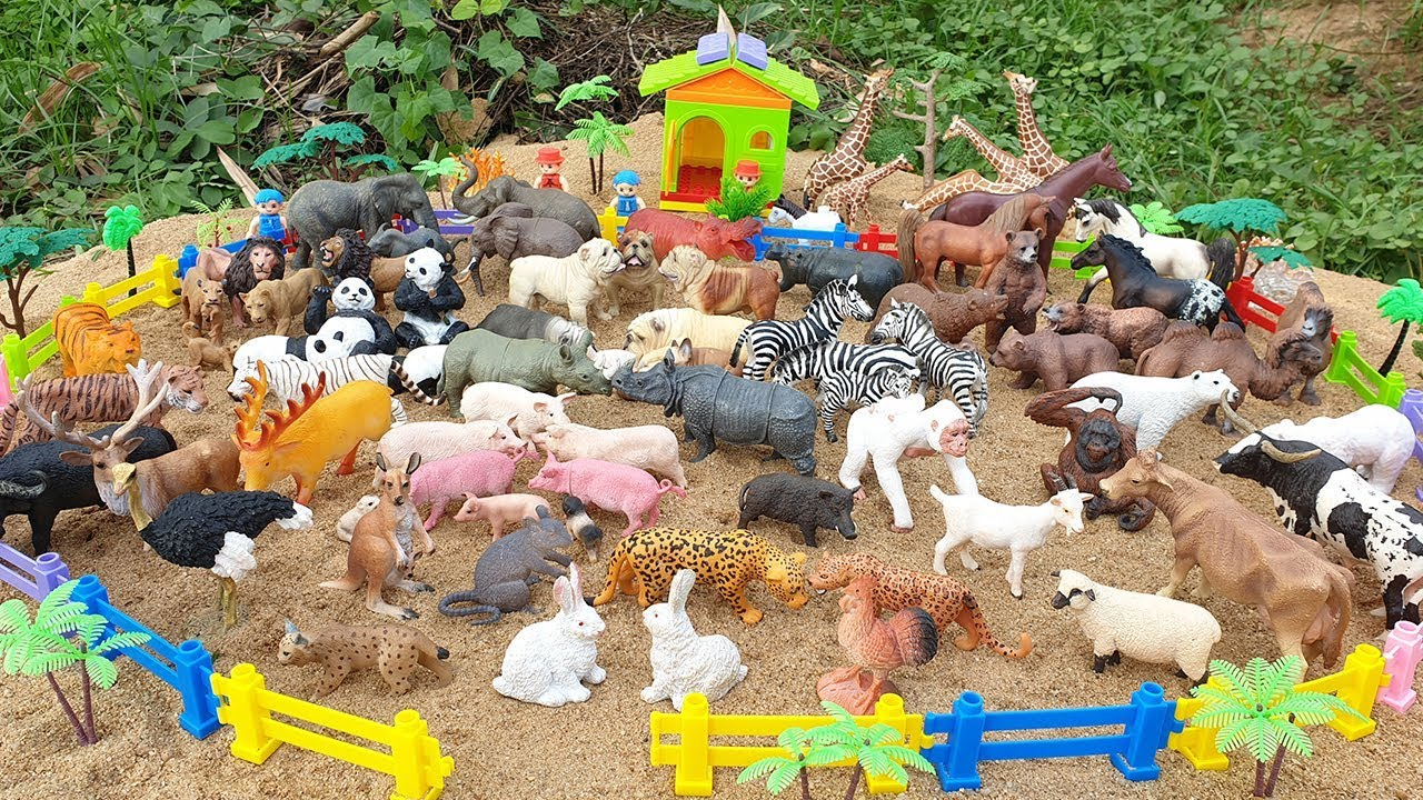 Wild Zoo Animals and Farm Animals Learn Animal Names Lots of Animals Educational Toys for Kids