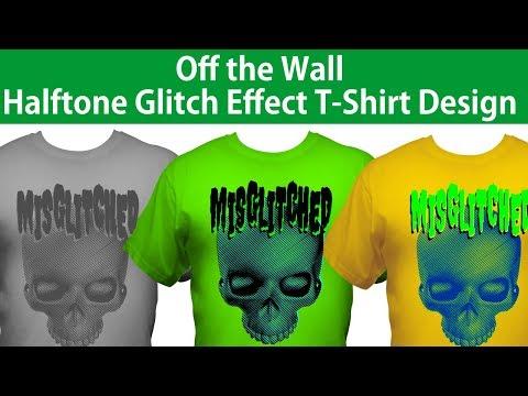 CorelDRAW Tshirt Design Tutorial Haltone Line and Glitch Effects Design thumbnail