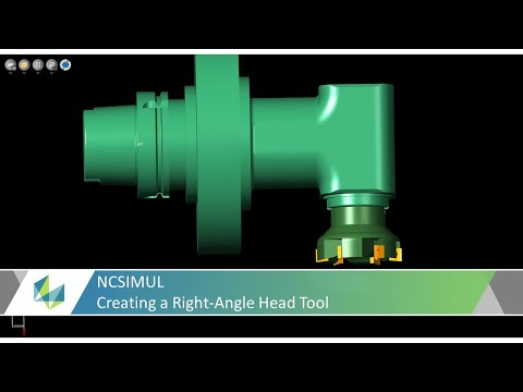 Creating a Right-Angle Head Tool in NCSIMUL