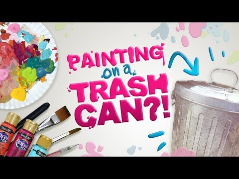 from GARBAGE to WORK OF ART?! | Painting on a Mural on a Miniature Trash Can