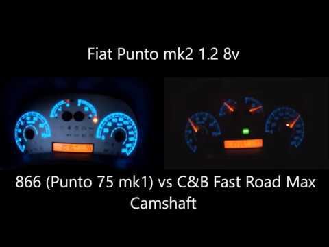 Fiat Punto mk2 1.2 8v Acceleration 866 vs C&B Fast Road Max Camshaft