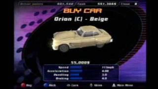 Sega Dreamcast: Speed Devils Online - Buying a new car