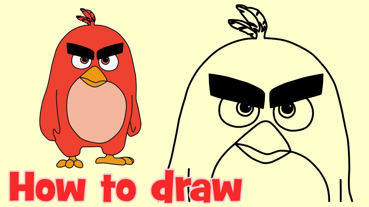 How To Draw Red Bird From Angry Birds Movie What To Draw