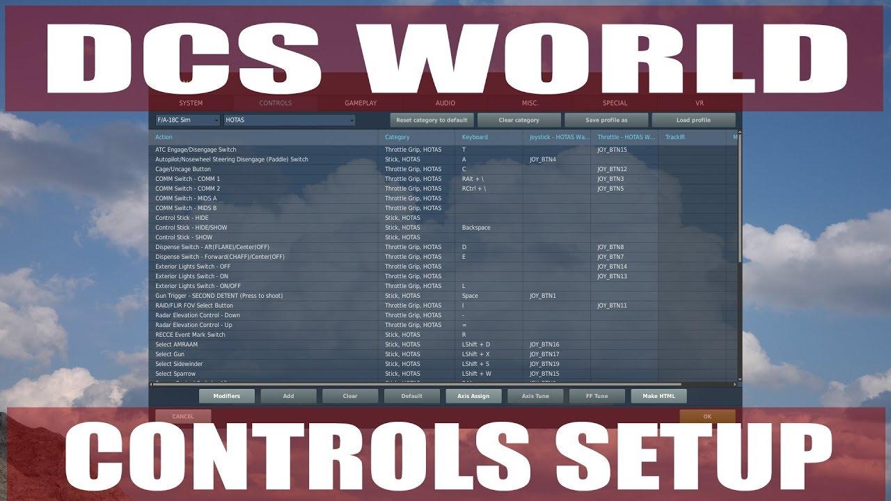 DCS World Controls Setup