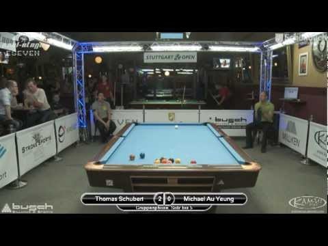 Stuttgart Open 2011 Schubert-Au Yeung, 10-Ball, Pool Billard