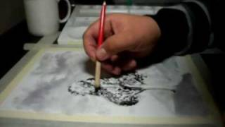 India ink drawing techniques