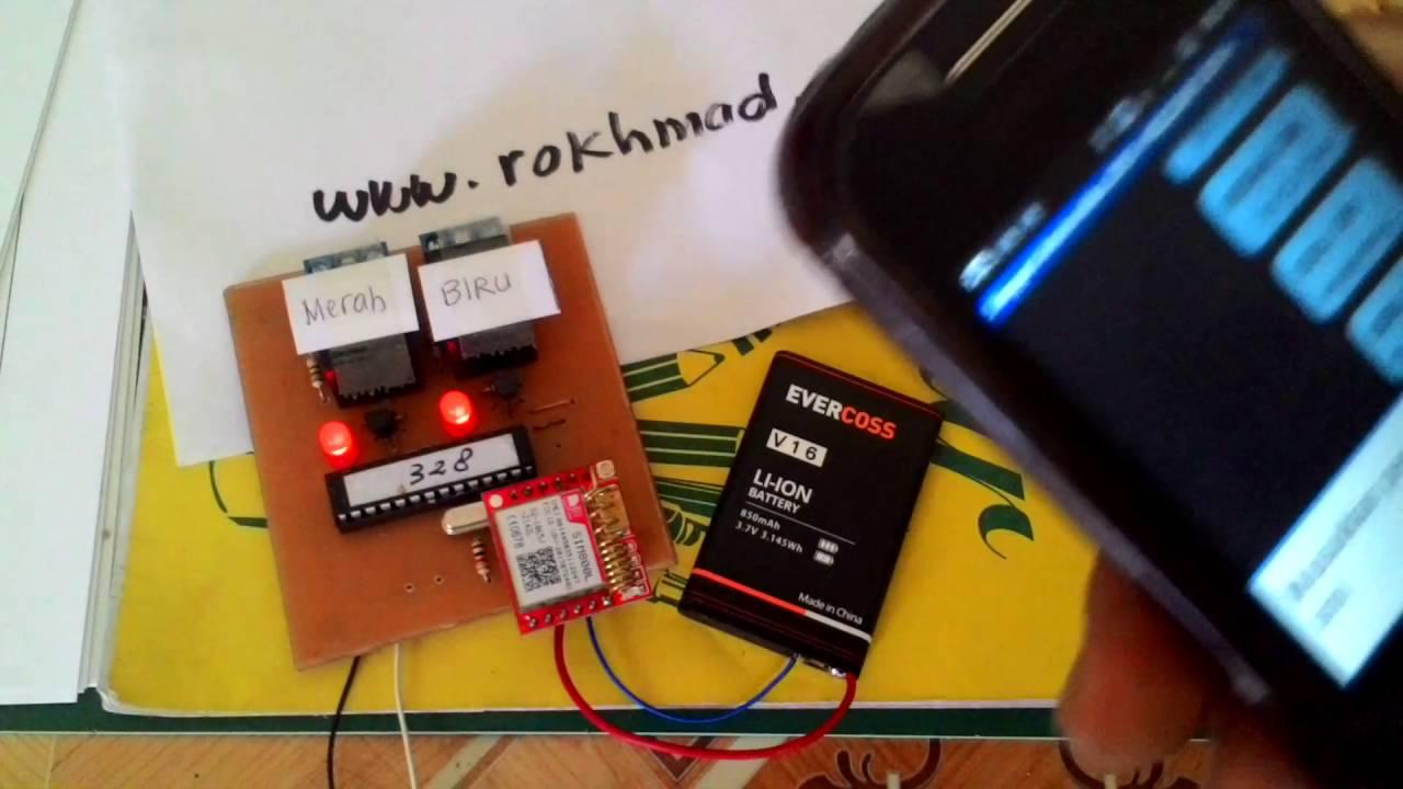 Kontrol Relay via Sim800L arduino 328 PCB