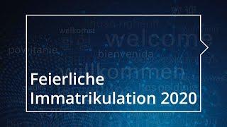 Feierliche Immatrikulation der TU Dresden 2020 – Aufzeichnung der Veranstaltung vom 22. Oktober 2020
