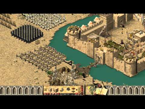 Stronghold Crusader - Multiplayer 1vs1vs1 Deathmatch