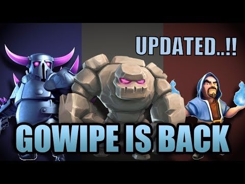 Th8 Gowipe Attack Strategy 2018 | Clash Of Clans | Updated Gowipe Attack 2018 | GoWiPe Is Back