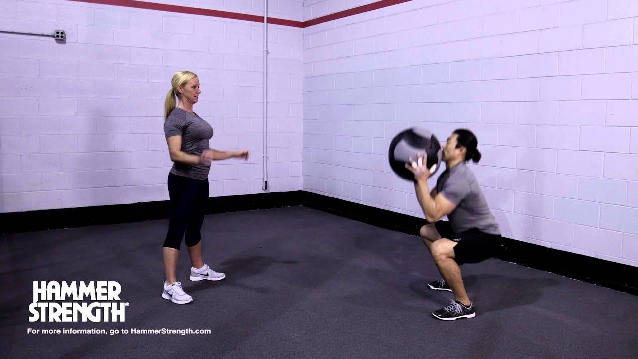 Wall Ball Exercise: Partner Squat Toss