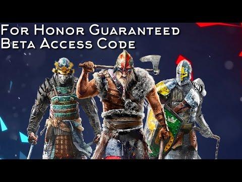 For Honor Guaranteed Beta Access Code