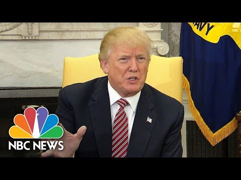 President Donald Trump: 'I am Totally Opposed To Domestic Violence Of Any Kind' | NBC News