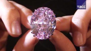 Бриллиант  Розовая звезда  за  млн выставили на аукцион в Гонконге