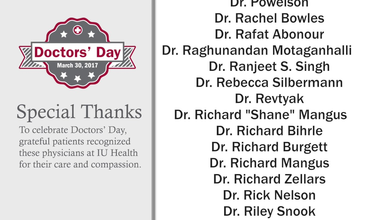 Mhf national doctors day 2017 recognition iu health