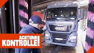 Die Problemzonen des LKW: Die XXL LKW-Waschanlage bekommt alles sauber! | Achtung Kontrolle