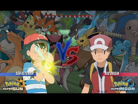 Pokemon Battle USUM: Ash Vs Red Origins Pokémon Origins, Pokemon Wifi Battle