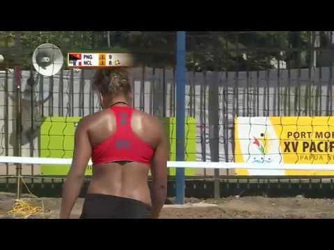 Pacific Games  2015 BEACH VOLLEYBALL F G 2 FIJI vs AMERICAN  SAMOA