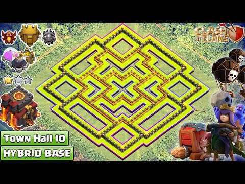 NEW Clash Of Clans TH10 Base 2018 | Town Hall 10 TROPHY/FARMING Base | Anti QueenWalk