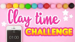 Making *1 MINUTE* Clay Cute Sculptures! - Your ideas! | #ClayTimeChallenge