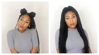 how i style my box braids   12 quick hairstyles