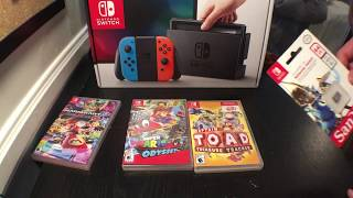 Nintendo Switch Unboxing And Review!!