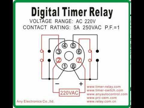 Digital Timer Relay Ah5r 4 Youtube