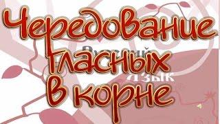 Русский язык 10 класс. Чередование гласных в корне