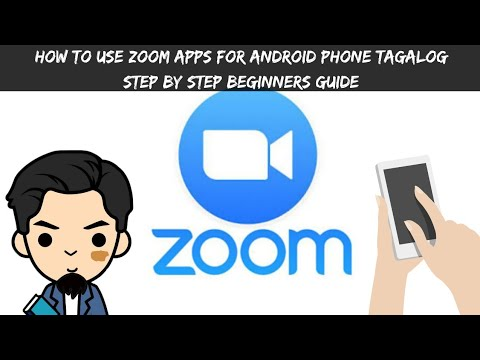 How to use zoom apps for Android phone - tagalog-  step by step beginners guide- teach with zoom app
