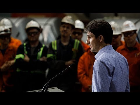 Prime Minister Trudeau Delivers Remarks At The ArcelorMittal Dofasco Steel Plant