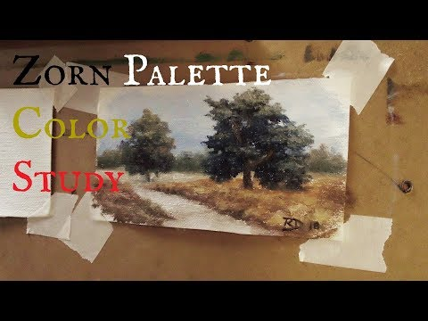 Landscape Color Study with Zorn Palette Mp3