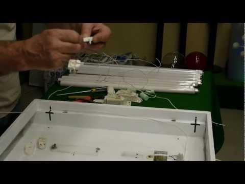 видео: Переделка офисного светильника Армстронг (4х18 Вт).