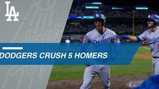 Dodgers crush 5 home runs in comeback win