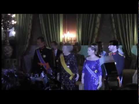 Queen Beatrix in Luxembourg, State Dinner - impression