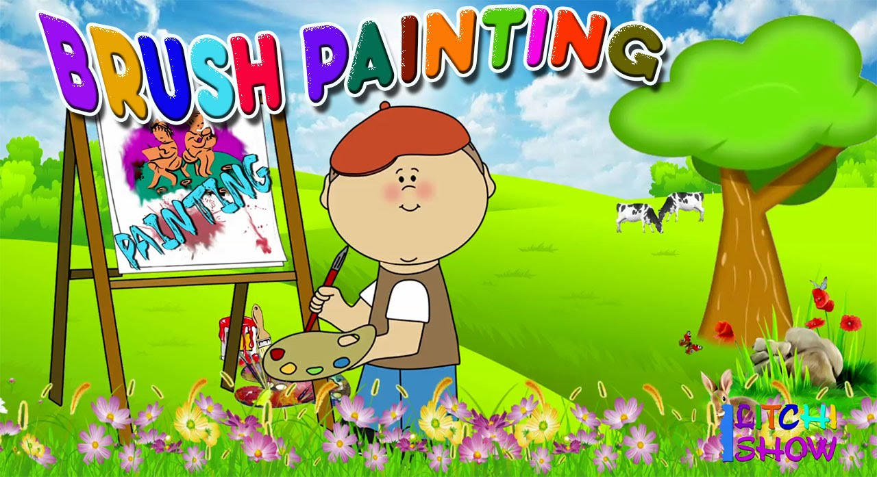 Tooth Brush Painting By Kid | Toothbrush Painting for preschool ...