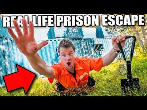 PRISON ESCAPE CHALLENGE THROUGH SECRET UNDERGROUND TUNNEL? Escaping The Hacker 24 Hour Challenge