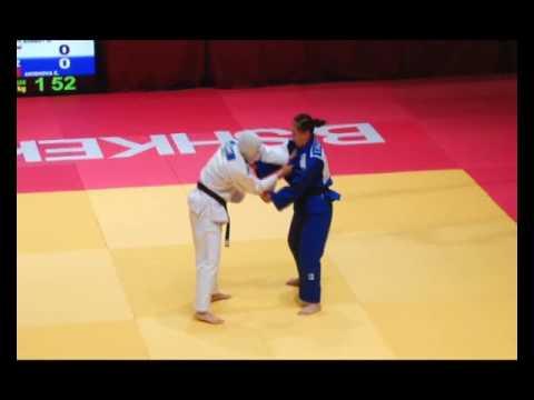 Juniors Asian Judo Championships-2017. 70 кг 3-5 BARBAT Maryam (IRI)-AKISHOVA Elmira (KGZ)