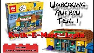 The Simpsons - Kwik-E-Mart - LEPIN - 16004 - Unboxing, Aufbau Teil 1 - Deutsch / German