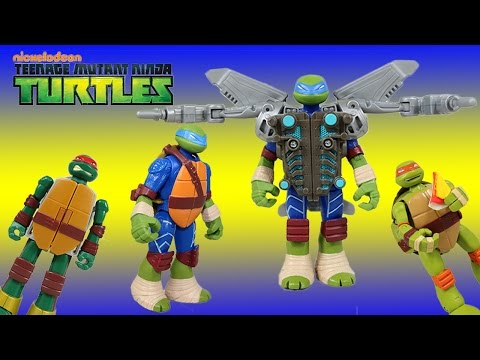 Teenage Mutant Ninja Turtles Mutations Leonardo w/ Aerial Attack Battle Shell. Pizza Party w/ Cyborg