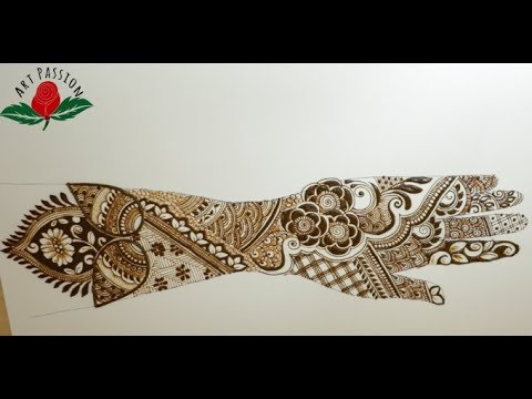 modern style intricate beautiful bridal mehendi design for hands