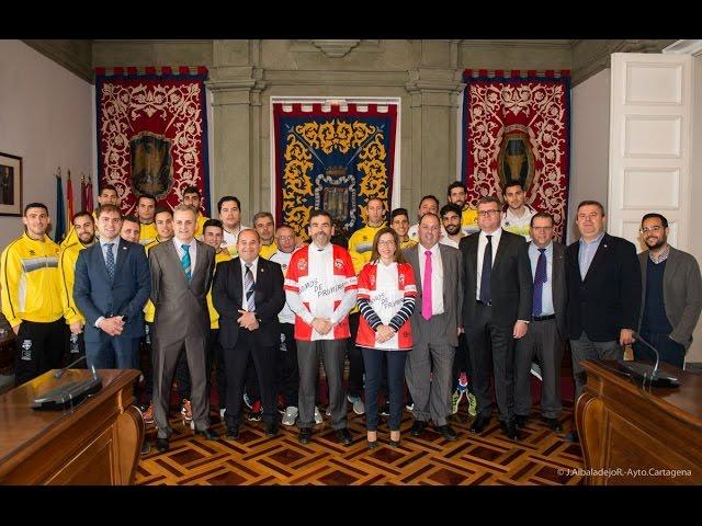 El Plásticos Romero Cartagena continúa la celebración en el Palacio Consistorial