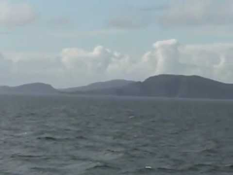 Vatersay, Barra and South Uist from the Clansman ferry to Oban